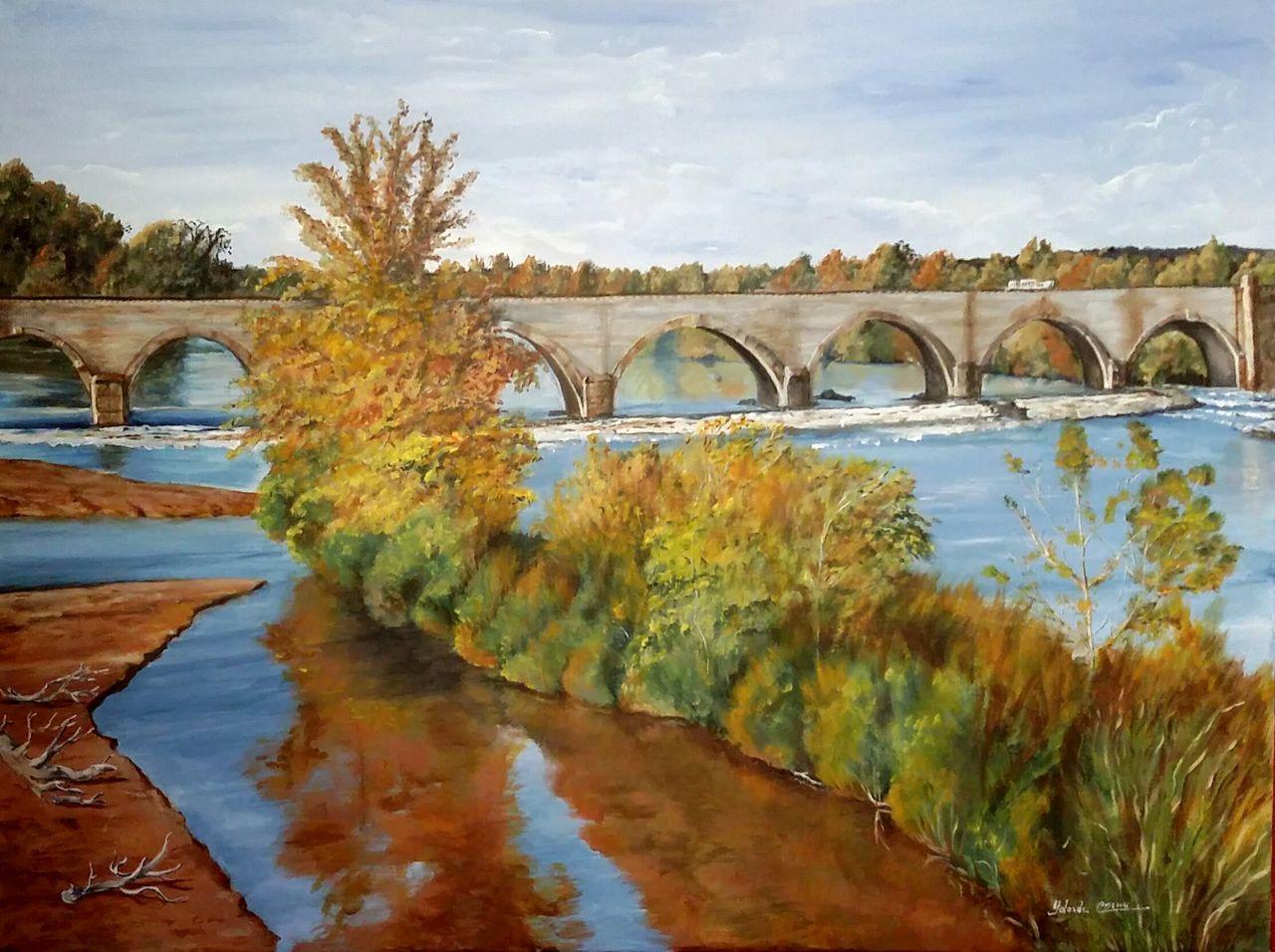 YolandedeComblesdeNayves 2018-12-30 Le pont-canal du Guétin