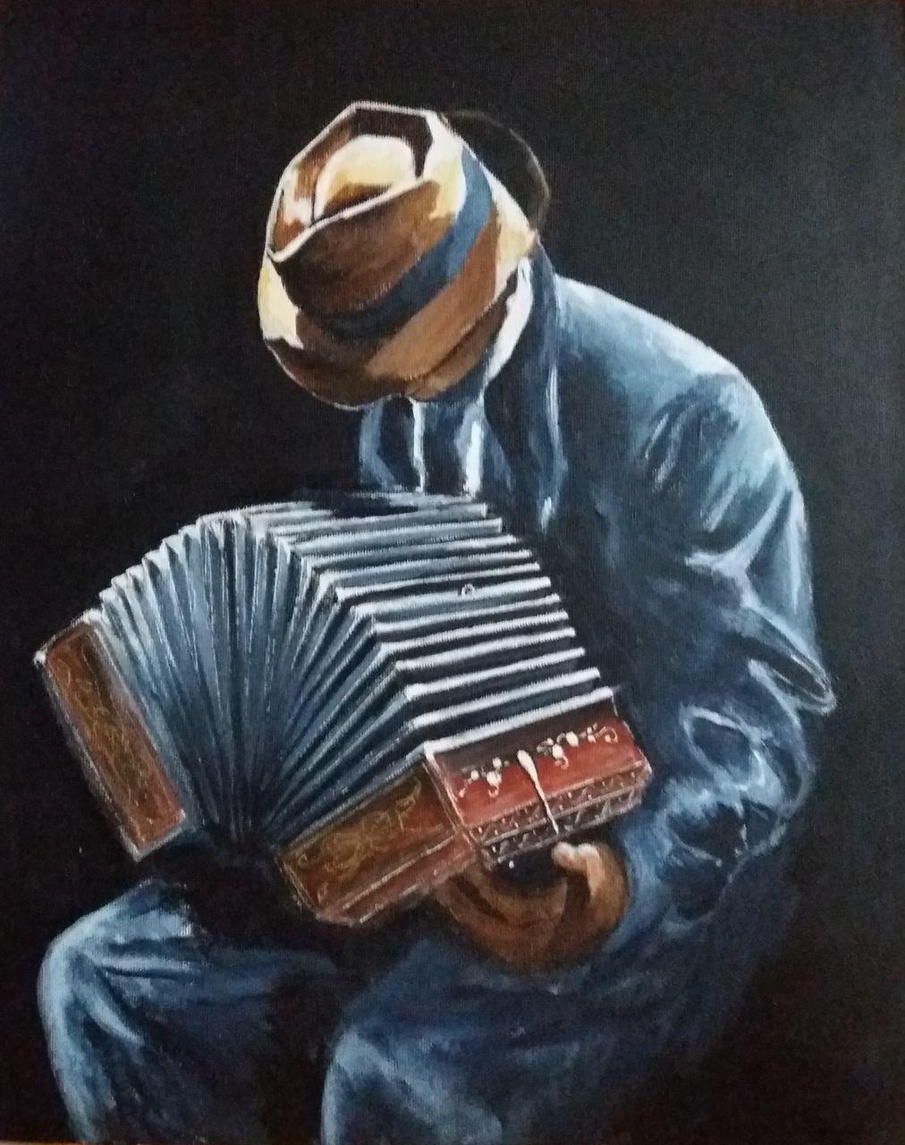 YolandedeComblesdeNayves accordéoniste