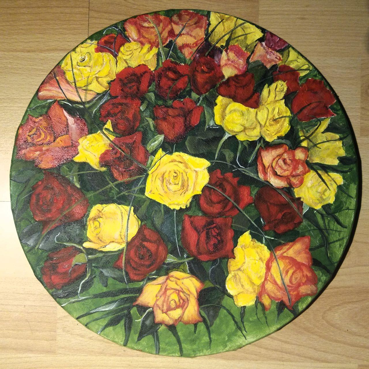 YolandedeComblesdeNayves bouquet de roses