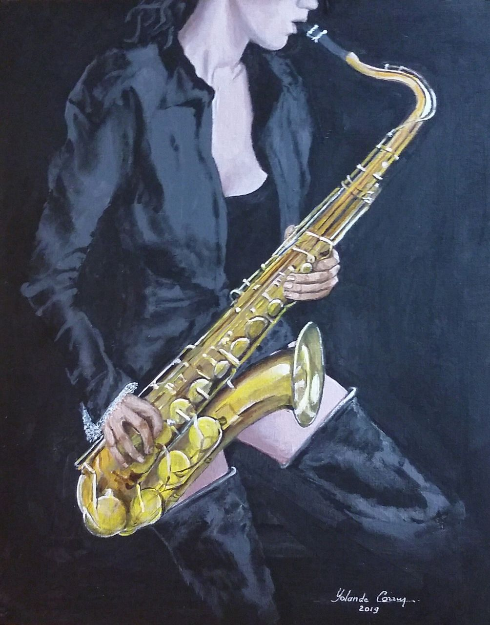 YolandedeComblesdeNayves saxophoniste