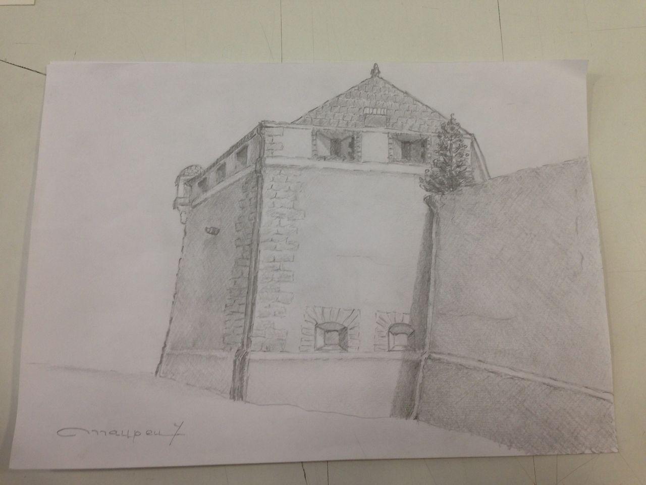 Yves Maupeu Fortifications de Vauban à Belfort . Réalisé au crayon