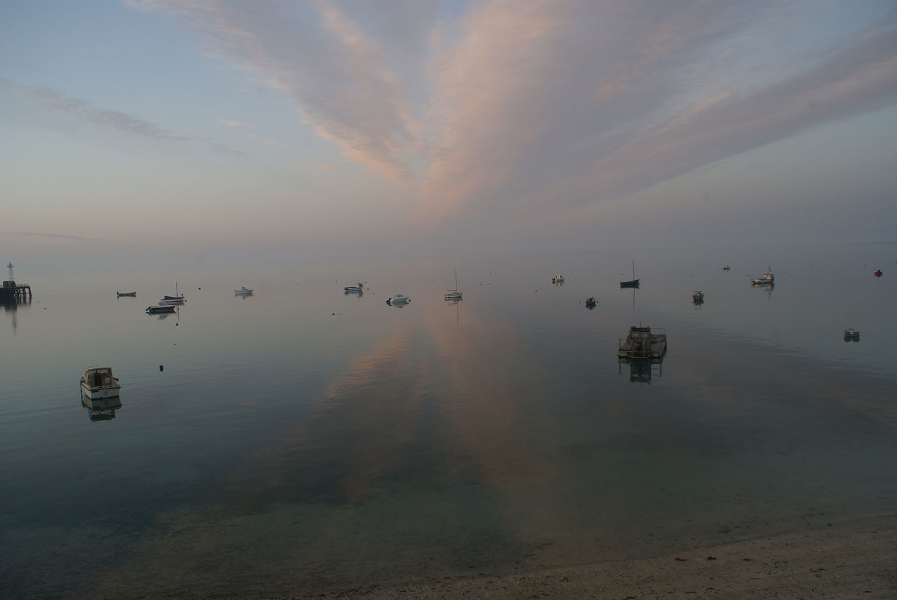 yves molac a l aube sur la baie