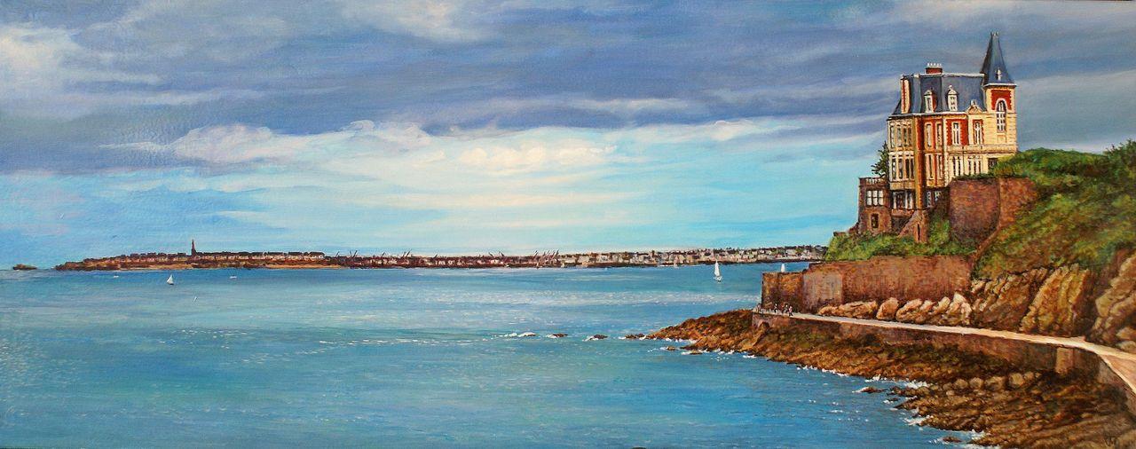 yves molac peinture panoramique  Dinard - st Malo