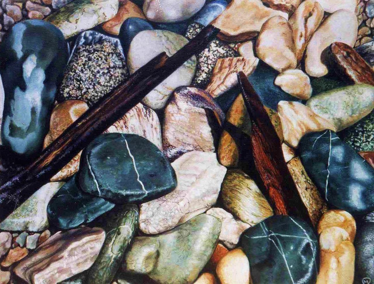 yves molac galets  bois flotés